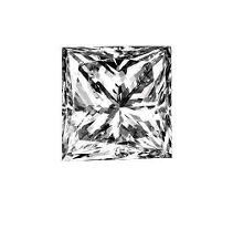 1.62 ct. Princess-Cut Loose Diamond (F, VVS2)