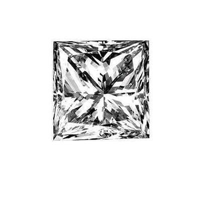 0.72 ct. Princess-Cut Loose Diamond (E, VS1)