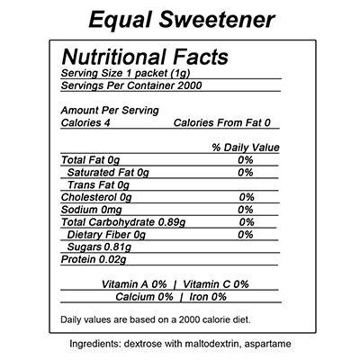 Equal Sugar Alternative Sweetener - 2,000 ct.