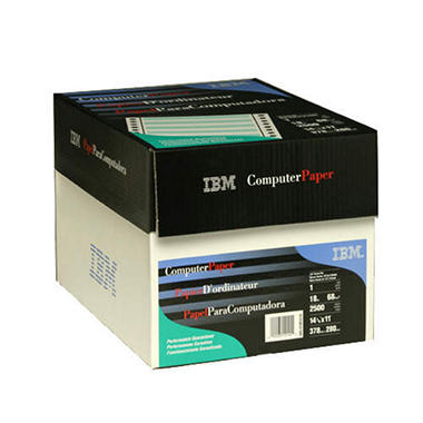 "IBM - Green Bar Computer Paper, 18lb, 14-7/8 x 11"" - Case"