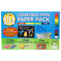 Roselle Construction Paper Combo Pack (15 in 1)