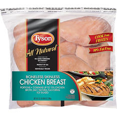 Tyson Boneless Skinless Chicken Breast (6.5 lb.)