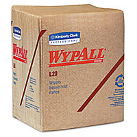 WypAll* - L20 Wipers, 12 1/2 x 13, Brown, 68/Pack -  12 Packs/Carton