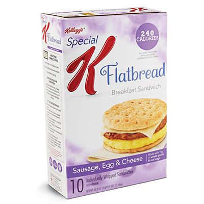 Special K Flatbread Breakfast Sandwiches - Sausage, Egg & Cheese - 50.4 oz. - 10 ct.