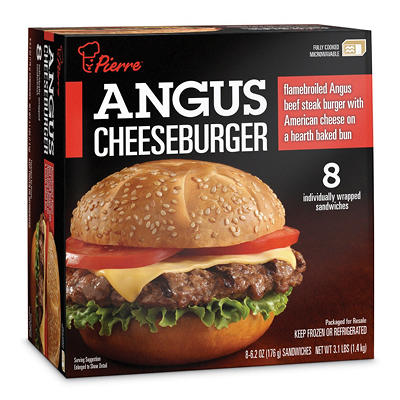 Pierre Angus Cheeseburgers - 3.1 lbs. - 8 ct.