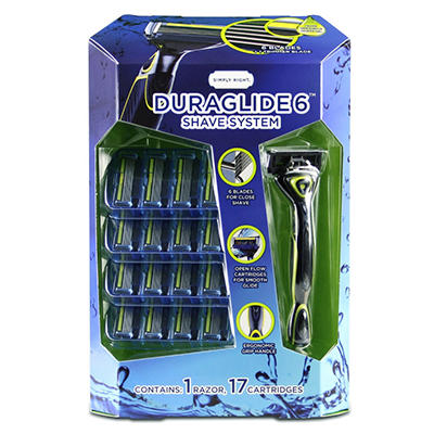 Simply Right Duraglide 6 Shave System (1 razor, 17 cartridges)