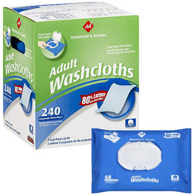 Member's Mark® Adult Washcloths - 240 ct.