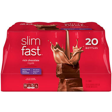 Slim-Fast Chocolate Royale - 20/10 fl. oz. bottles