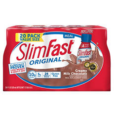 Slimfast Milk Chocolate Shake - 20/10 fl. oz. bottles