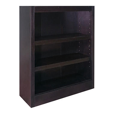A. Joffe - E Single Wide Bookcase - Espresso Finish - 3 Shelves