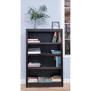 A. Joffe - Single Wide Bookcase - Espresso Finish - 4 Shelves