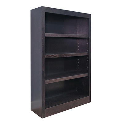A. Joffe - Single Wide Bookcase - Espresso Finish - 4 Shelves