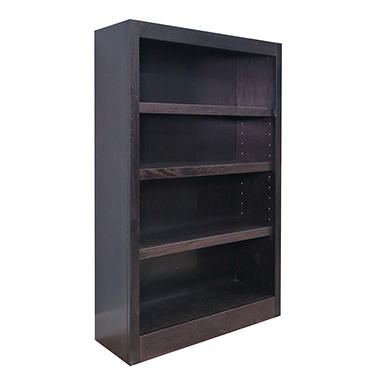 A. Joffe - MI3048-E Single Wide Bookcase - Espresso Finish - 4 Shelves