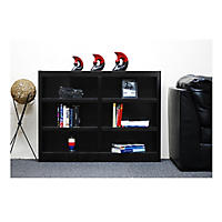 A. Joffe 6-Shelf Double Wide Bookcase, Select Color