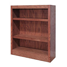 A. Joffe - Single Wide Bookcase - Dry Oak Finish - 3 Shelves