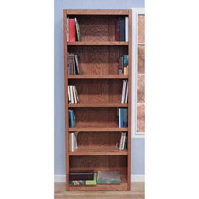 A. Joffe - Single Wide Bookcase - Dry Oak Finish - 6 Shelves