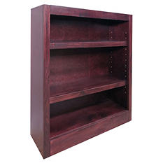 A. Joffe - Single Wide Bookcase - Cherry Finish - 3 Shelves