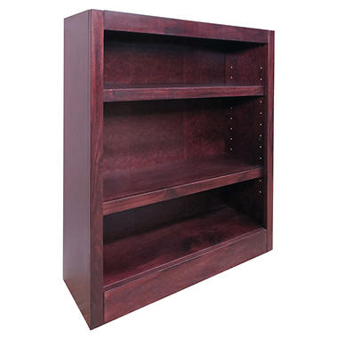 A. Joffe - MI3036-C Single Wide Bookcase - Cherry Finish - 3 Shelves