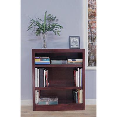 A. Joffe - Single Wide Bookcase - Cherry Finish - 3 Shelves