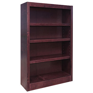 A. Joffe - MI3048-C Single Wide Bookcase - Cherry Finish - 4 Shelves