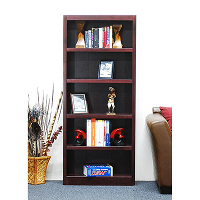 A. Joffe -Single Wide Bookcase - Cherry Finish - 5 Shelves