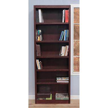 A. Joffe - Single Wide Bookcase - Cherry Finish - 6 Shelves
