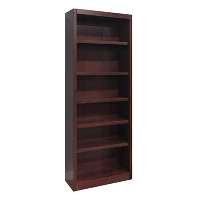 A. Joffe - Single Wide Bookcase - Cherry Finish - 6 Shelves