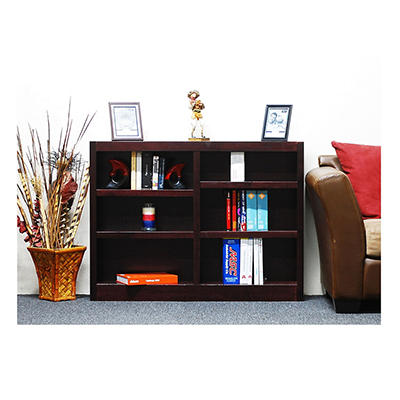 A. Joffe - Double Wide Bookcase - Cherry Finish - 6 Shelves