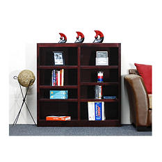 A. Joffe - Double Wide Bookcase - Cherry Finish - 8 Shelves