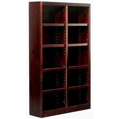 A. Joffe - Double Wide Bookcase - Cherry Finish - 10 Shelves