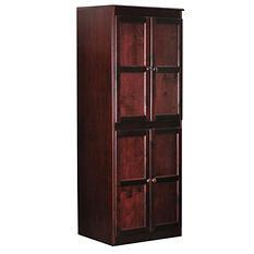 A. Joffe Multi-use Storage Cabinet, Cherry Finish (4 Shelves)