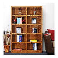 A. Joffe 10-Shelf Double Wide Bookcase, Select Color