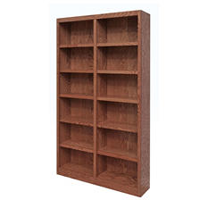 A. Joffe 12-Shelf Double Wide Bookcase, Select Color
