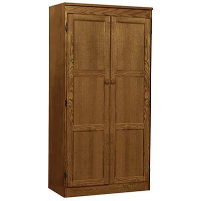 A. Joffe - Multi-use Storage Cabinet - Dry Oak Finish - 4 Shelves