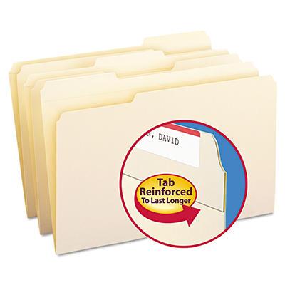 Smead 1/3 11-Point Reinforced Top Tab File Folders, Manila (Legal, 100 ct.)