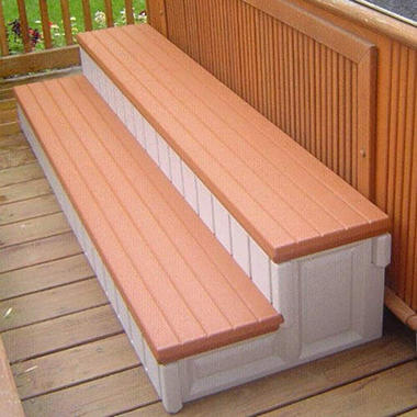 Spa Step - Redwood Accent - 74