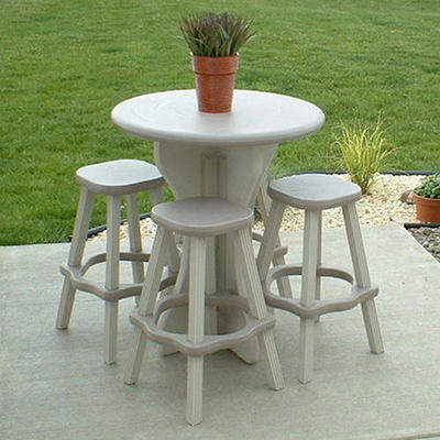 "30"" Bistro Set - Gray - 5 pc."