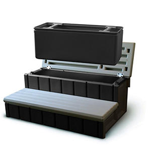 "Spa Storage Step & Cooler - 36"" - Gray"