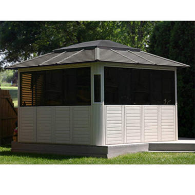 Enclosed Gazebo w/ Doors & Windows - 10' x 10'