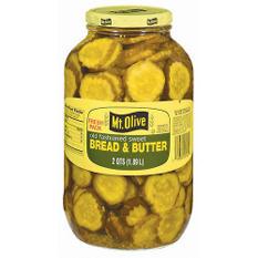 Mt. Olive Bread & Butter Pickle Slices - 2 qt. jar
