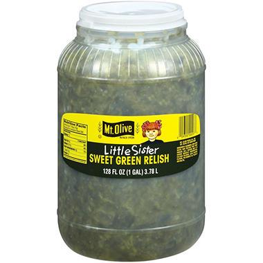 Little Sister Sweet Green Relish - 1 gal jar