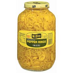 Mt. Olive Mild Banana Pepper Rings - 1 gal. jar