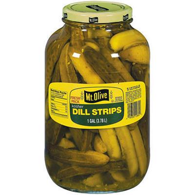 Mt. Olive Kosher Dill Strips - 1 gal. jar