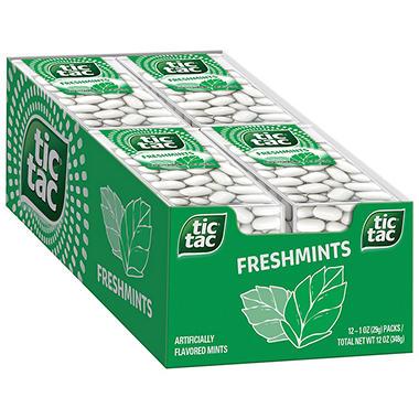 Tic Tac Freshmints Big Pack 12 Ct Sam S Club