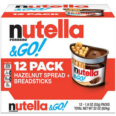 Nutella Amp Go Hazelnut Spread Breadsticks 1 8 Oz Pks