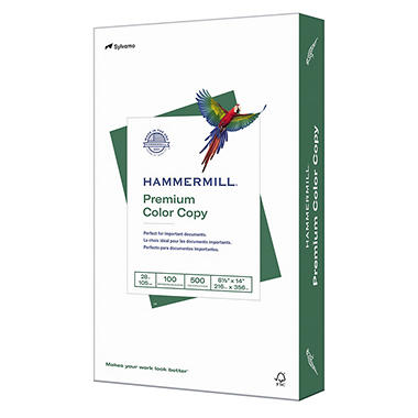 Hammermill - Color Copy Paper, 100 Brightness, 8-1/2 x 14, Photo White - 500/Ream