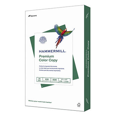 Hammermill - Color Copy Digital Paper, 28lb, 100 Bright, 11 x 17
