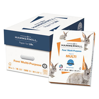 Hammermill - Fore Multipurpose Paper, 20lb, 96 Bright, 8-1/2 x 11