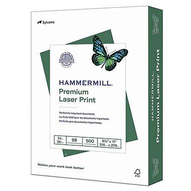 Hammermill - Laser Print Paper, 24lb, 98 Bright, 8-1/2 x 11