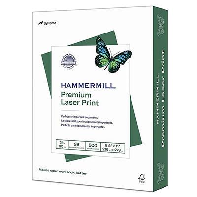 "Hammermill - Laser Print Paper, 24lb, 98 Bright, 8-1/2 x 11"" - Ream"